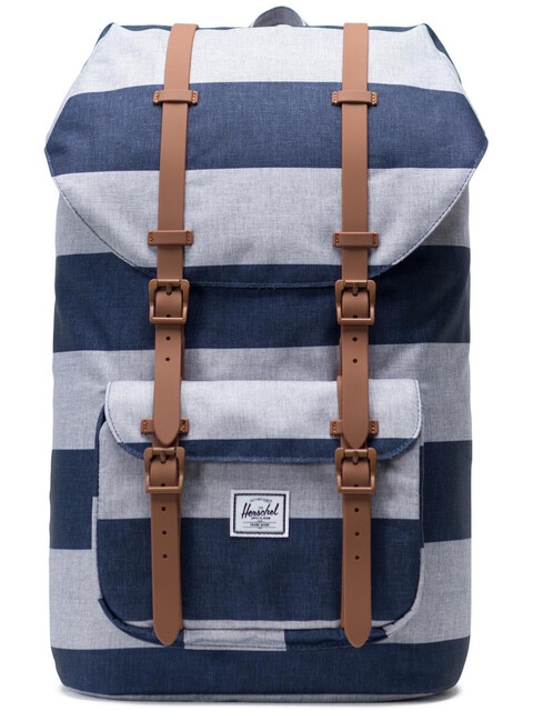 Herschel Little America Backpack Unisex, border stripe/saddle brown